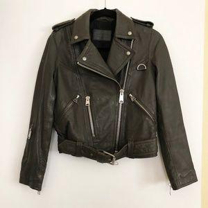All Saints Belted Moto Jacket